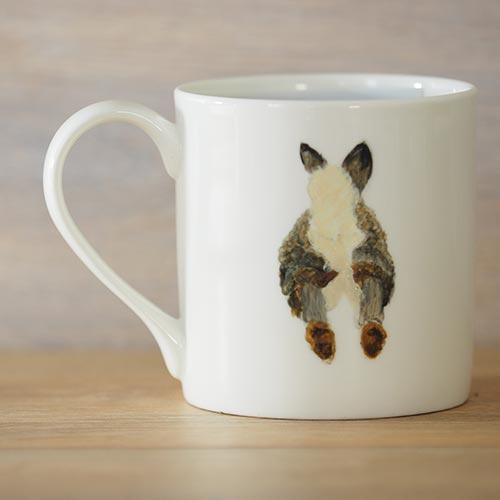Suffolk hare,hare,hand-painted,bone china