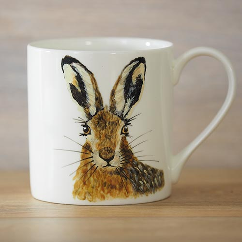 Suffolk hare,hare,hand-painted,bone china