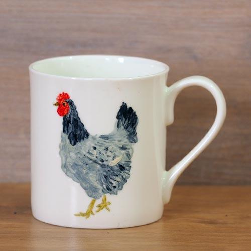 chickens, mugs